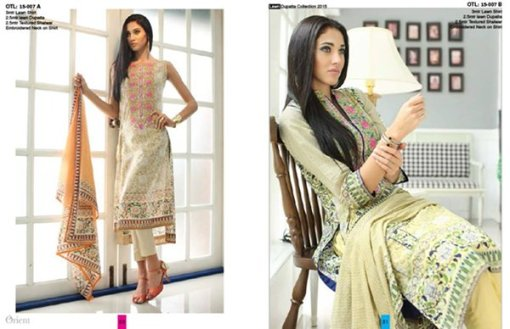 Orient Textiles Lawn Collection 2015 For Women 002