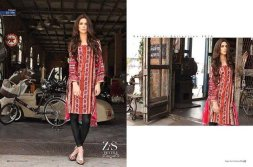 ZS Textile Embroidered Lawn Collection 2015 For Women 005