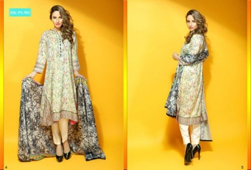 Hadiqa Kiani Fabric World Lawn Collection 2015 Volume 2 For Women 004