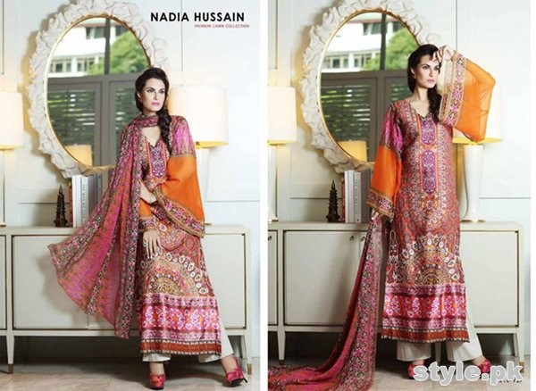 Latest Pakistani Casual Dresses Designs 2015 For Girls 4