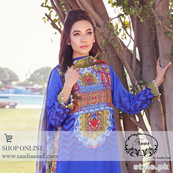Saadia Asad Summer Dresses 2015 For Girls 2