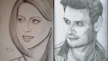 Sketches Of Pakistani Celebrities