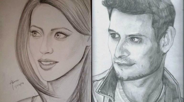 Sketches Of Pakistani Celebrities