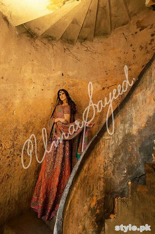 Umar Sayeed Ghagra Choli Collection 2015 For Women 6
