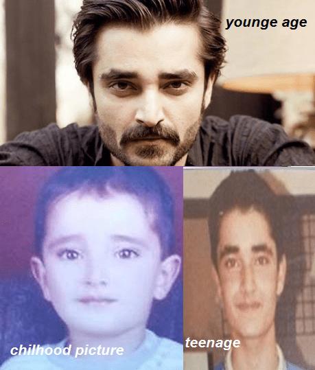 hamza ali abbasi childhood teenage pics