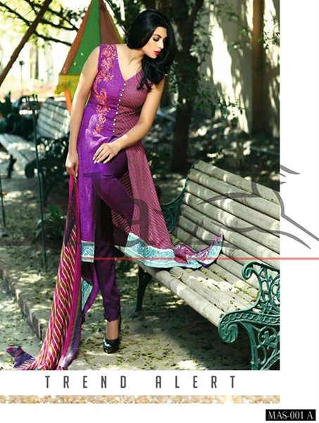 Lala Textiles Mashaal Embroidered Collection 2015 For Women0012