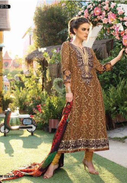 Izza Hassan Silk Collection 2015 By Shariq Textiles006