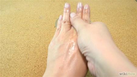 Scrub on hands