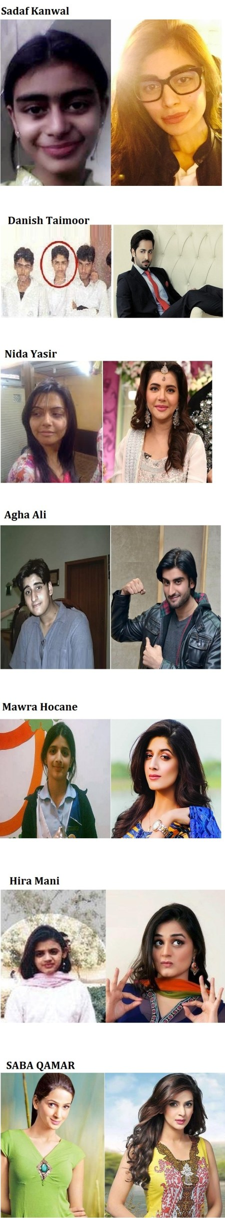 See Pakistani Celebrities Then and now looks