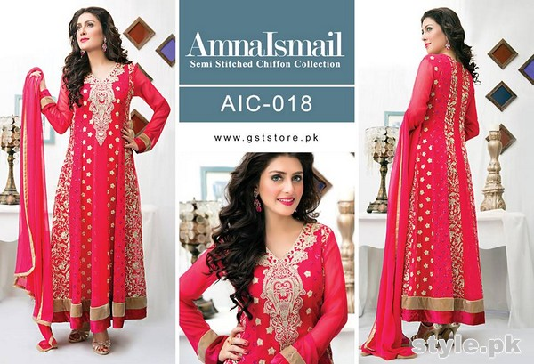 Amna Ismail Chiffon Dresses 2015 For Women 10