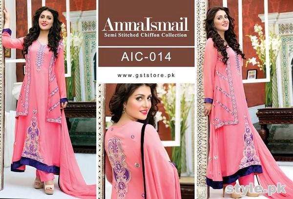 Amna Ismail Chiffon Dresses 2015 For Women 7