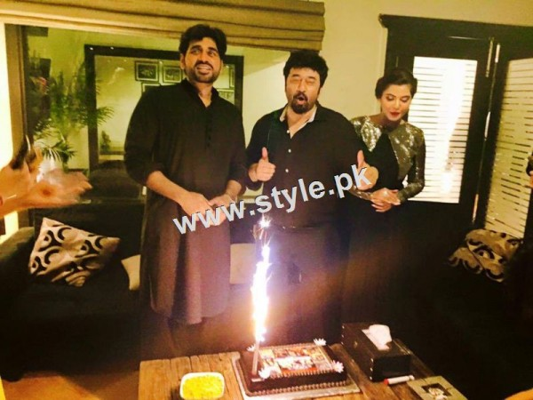 Birthday Celebration of two stars Humayun Saeed and Yasir Nawaz