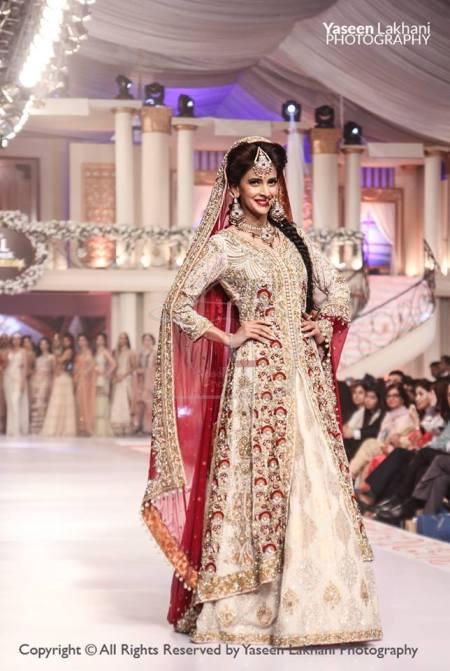 See Elegant Pakistani Celebrities of 2015 wearing bridal dresses