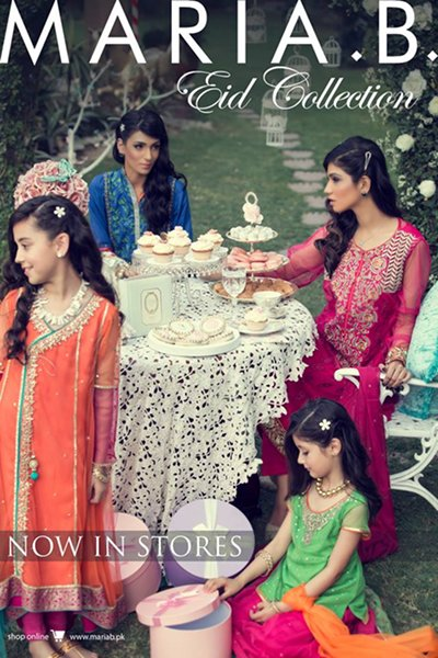 Maria B Eid Collection 2015 Volume 2 For Women And Kids004