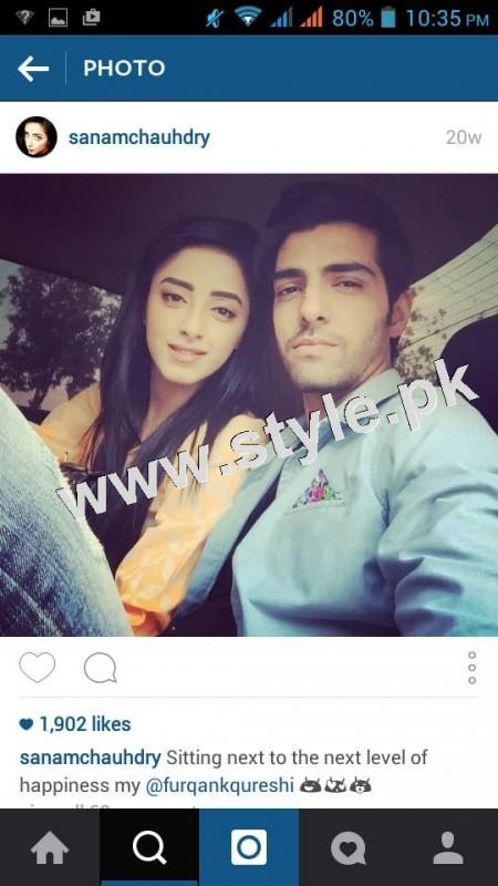 After dating Humayun Ashraf Sanam Chaudhry is dating Furqan Qureshi 4