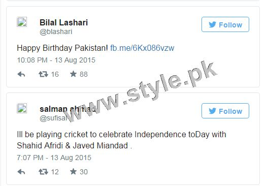 How Pakistani Celebrities wished Nation Happy Independence Day (2)