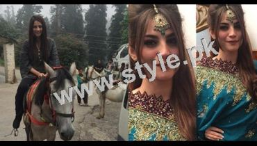 See Neelum Muneer is enjoying shooting of Ramla in Murree