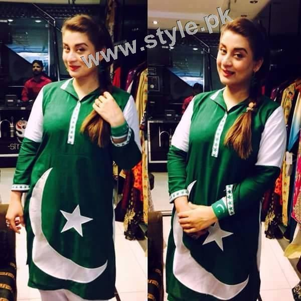 Pakistani Celebrities on Independence Day 2015 (15)