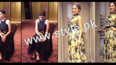 See Pakistani Celebrities who look amazing in Latest long frocks of 2015