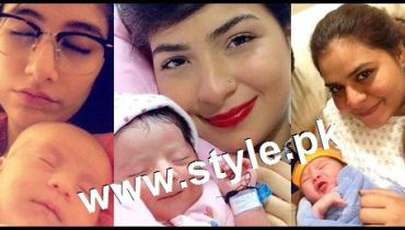 See Pakistani Celebrities with their newly born babies