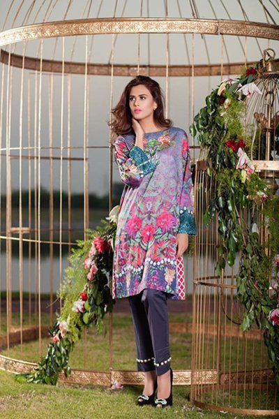 Cross Stitch Unstitched Winter Collection 2015 For Women