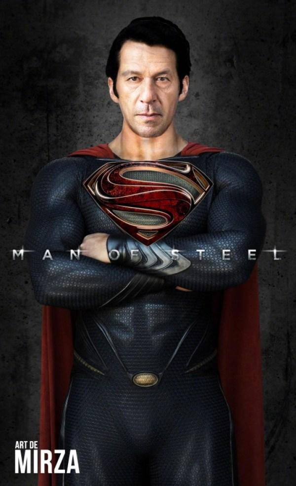 Imran khan as super man