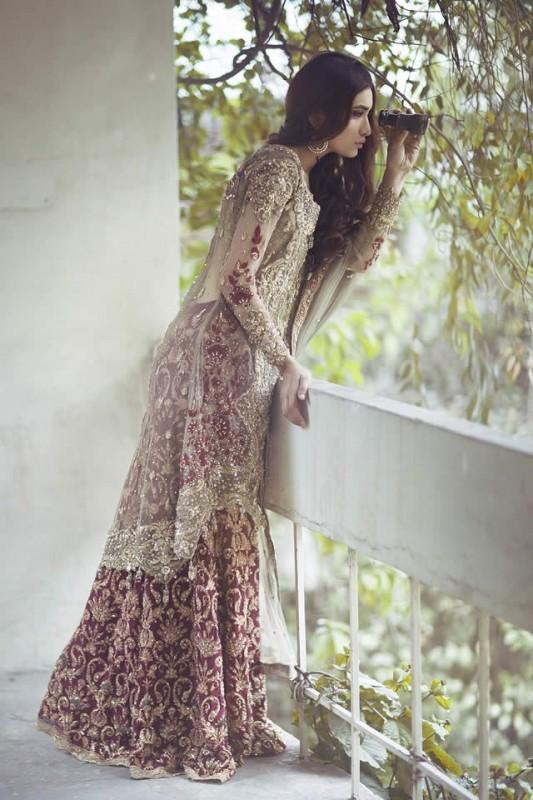 Pakistani Barat Dresses 2016- grey