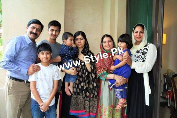See Veena Malik's and Malala's family  in Dubai