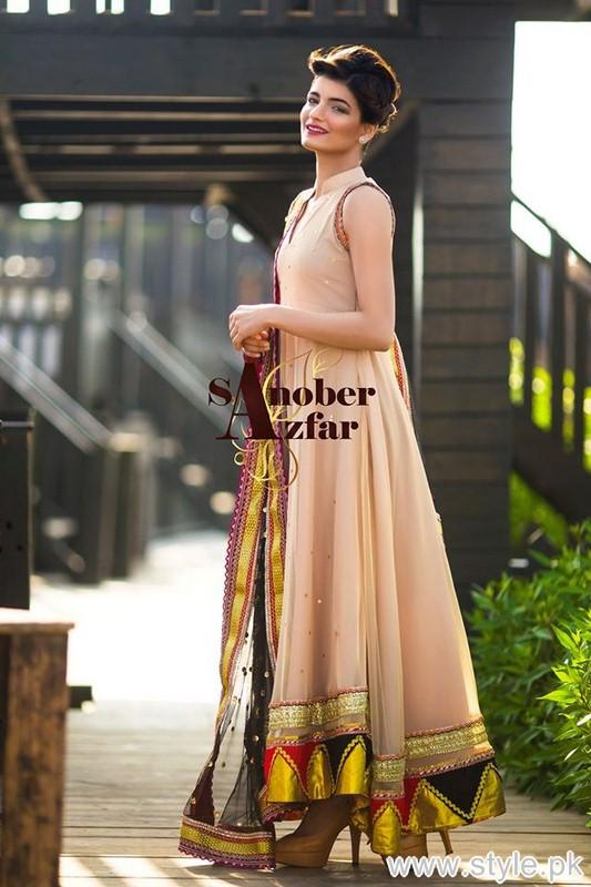 Sanober Azfar Formal Dresses 2015 For Women 5