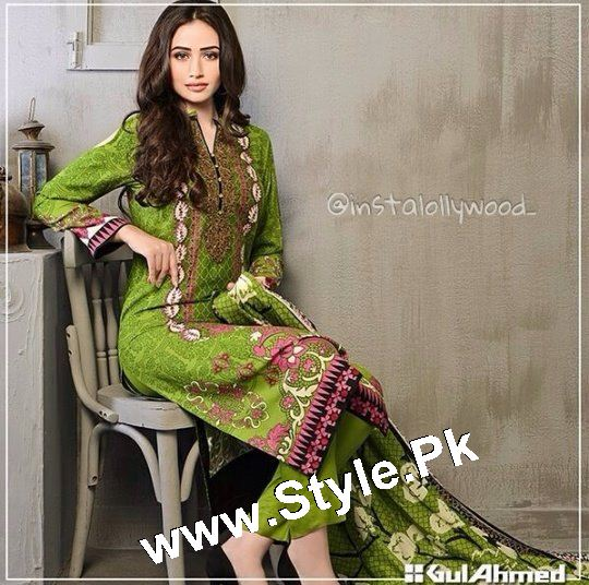 Which Celebrity looked best in Gul Ahmed Winter Collection 2015 (8)