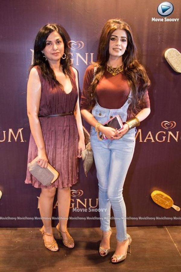 celebrities at magnum party