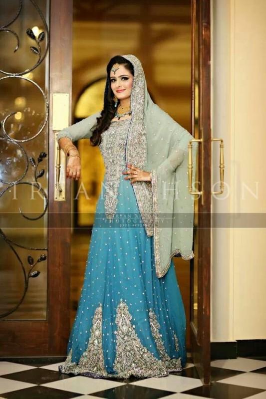 latest Bridal Dresses Valima blue