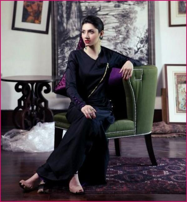 mahira khan black dress