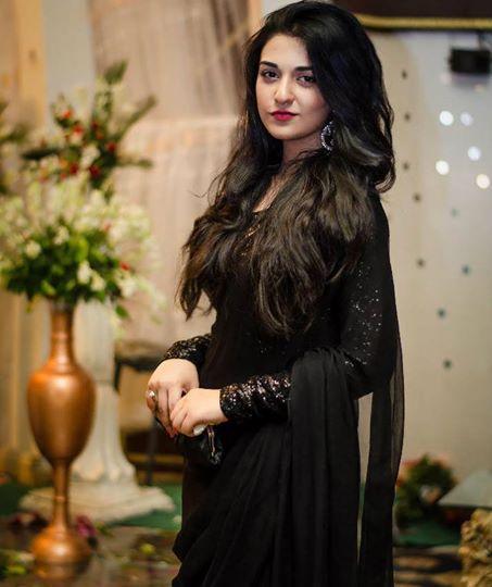 sarah khan black dress