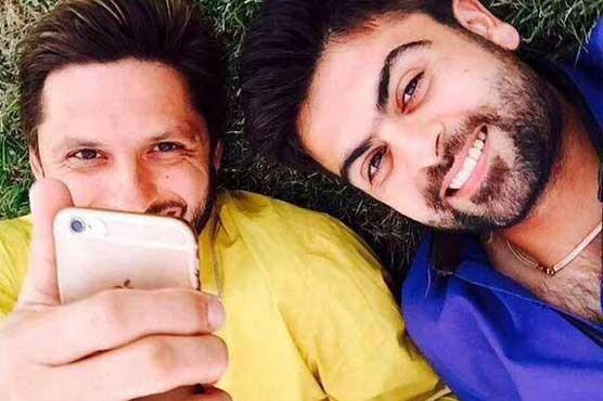 Ahmad Shahzad and Shahid Afridi selfie