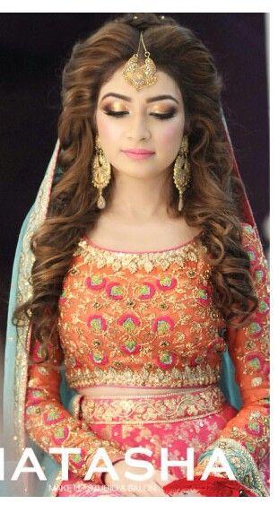 Bridal Hairstyles  -mehndi bride