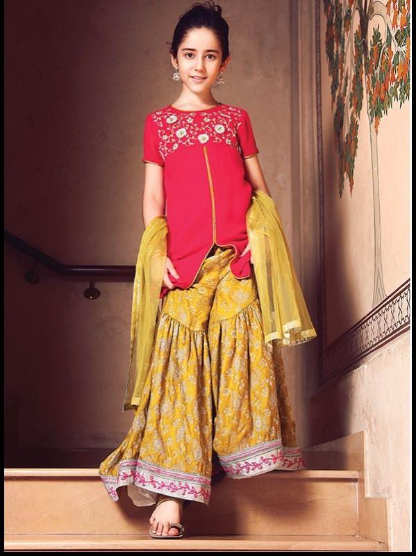 Kids Fancy dresses 2016 in Pakistan-yellow