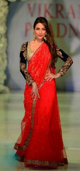 Red Latest Sarees Designs