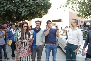 Mahira khan Adeel Hussain and Sheheryar Munawar at IOBM University