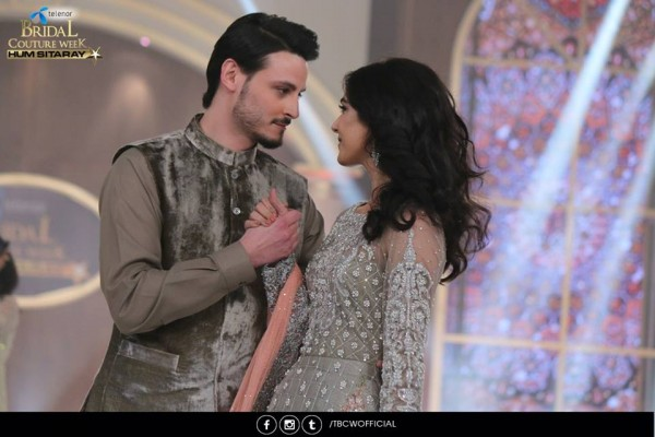 The beautiful couple Maya Ali and Osman Khalid Butt romanced on ramp (10)