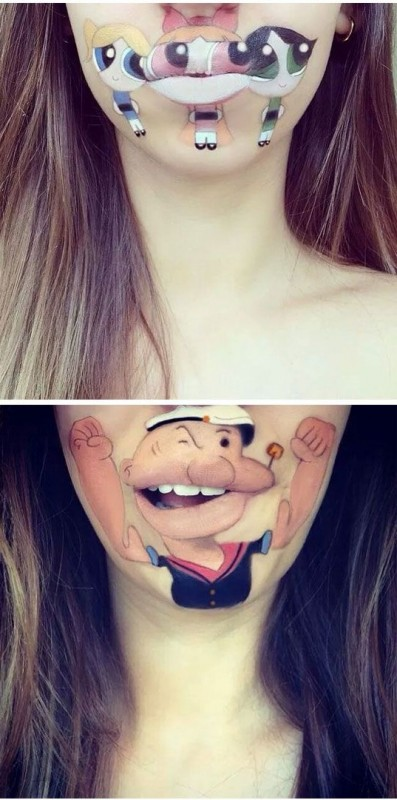 Crazy and Funny Lip Art Designs- 2