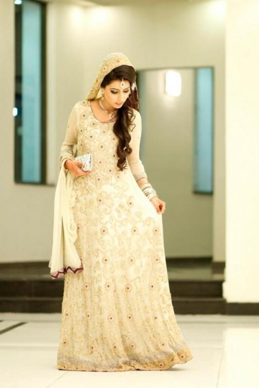 Pakistabi Bride in White-new