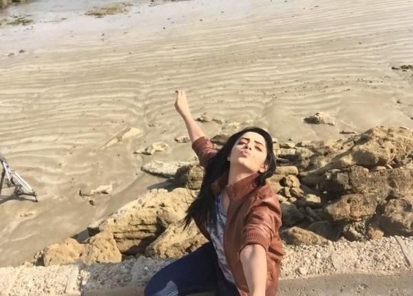Sanam Chauhdry at Hawksbay Beach Karachi