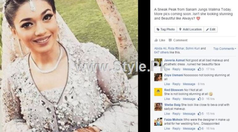 See Sanam Jung is being criticized for her Walima Makeup