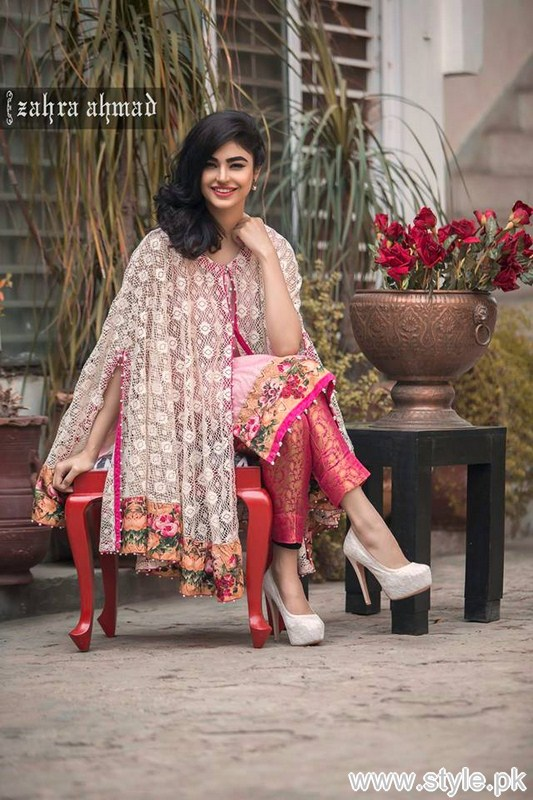 Zahra Ahmad Part Dresses 2016 For Girls and Women 8