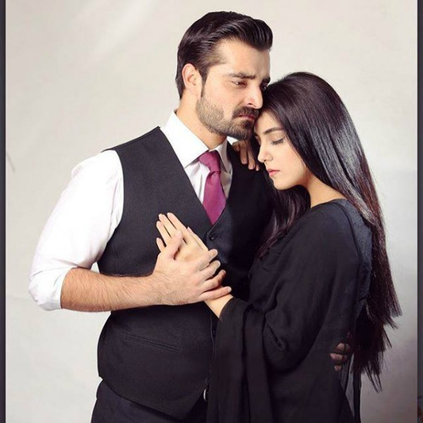 on the set of new Drama Maan Mayal- couple