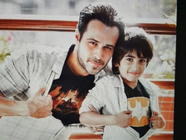 Emraan Hashmi and Amir Khan with their Son. imran