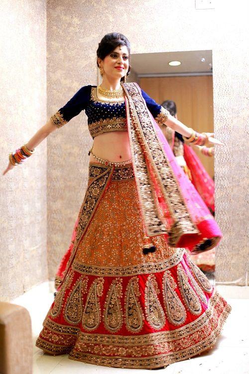Indian Wedding lehngay 2016-blue