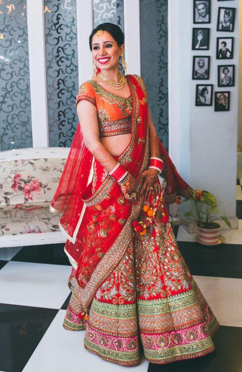 Indian Wedding lehngay 2016- red