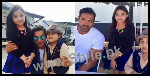 See Javeria Saud's kids with Varun Dhawan and John Ibrahim